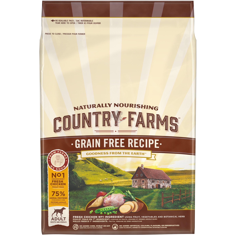 Country Farms Grain Free Adult Chicken - пълноценна храна с пилешко месо за кучета средни и големи породи над 12 месечна възраст 2.5 кг.