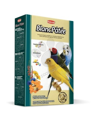 Padovan Blanc patee - мека хранителна добавка за зърноядни птици. 300 гр.