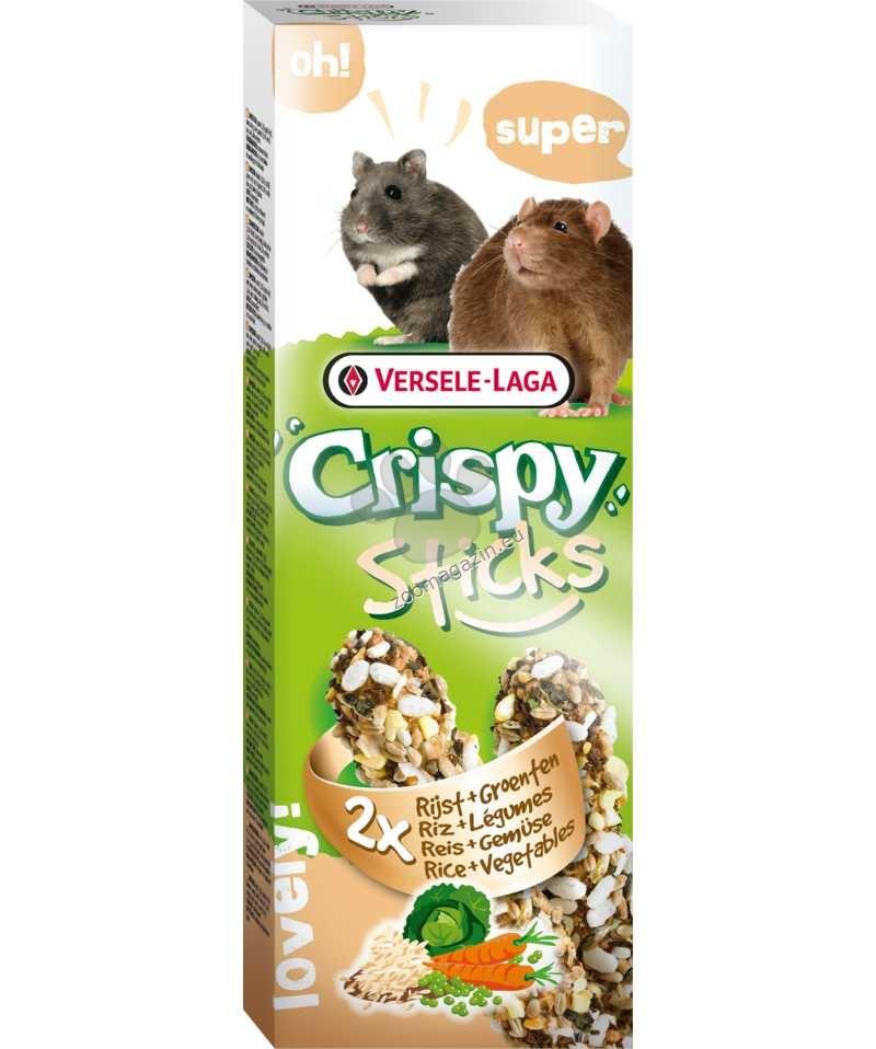 Versele Laga - Crispy Sticks Rice & Vegetables - крекер с ориз и зеленчуци 2 бр х 55 гр.