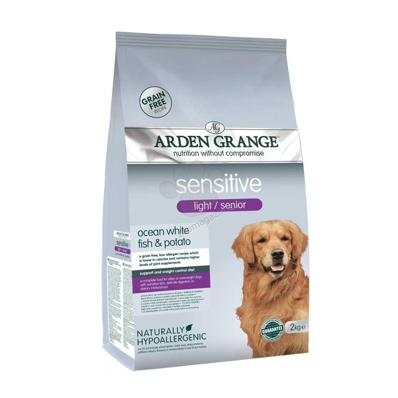 Arden Grange - Sensitive Senior/Light Grain Free - с бяла риба и картофи, за възрастни кучета или кучета с наднормено тегло с чувствителна храносмилателна система 2 кг.
