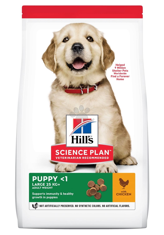 Hills - Science Plan Canine Puppy Large Breed с пилешко - За подрастващи кучета от едри и гиганстки породи, над 25кг, от отбиването до 18 мес. Бременни и кърмещи кучета 2.5 кг.