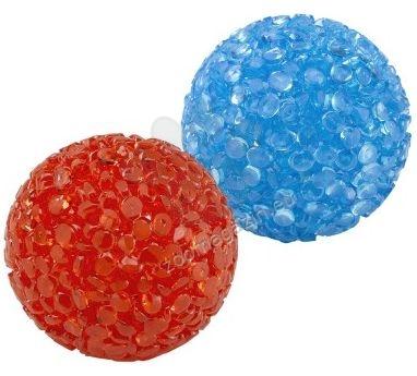 Ferplast - Neon ball pa5200 - грапави силиконови топчета със звънче, 2 бр.