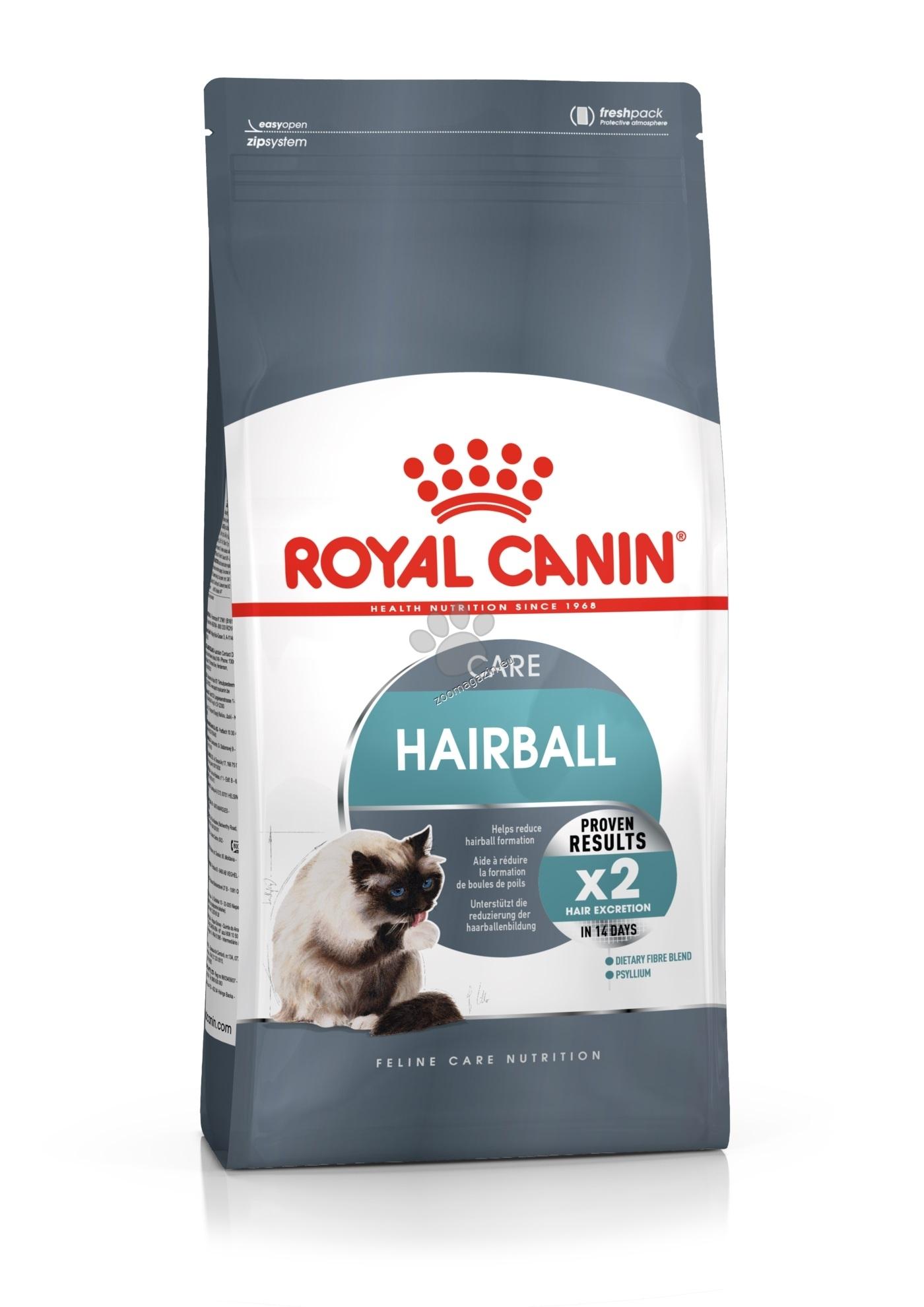 Royal Canin Hairball Care – храна за котки за предотвратяване образуването на космени топки 2 кг. + ПОДАРЪК: 3 броя пауч Royal Canin