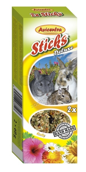 Avicentra Sticks deluxe with herbs for rabbits and other rodents - крекери с билки 2 броя, 120 гр.
