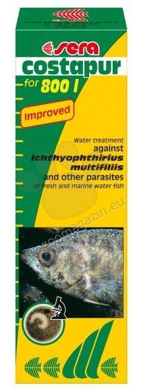 Sera - Costapur  - препарат против едноклетъчното Ichthyophthirius и други паразити по рибките ( Costia , Chilodonella , Trichodina и др. ) в сладководния и соленоводния аквариум 50 ml.