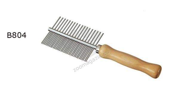 Camon Double comb with wooden handle - διπλή χτένα με ξύλινη λαβή
