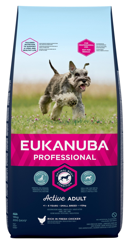 Eukanuba Adult Chicken Small Breed - за кучета малки породи 1-10 кг., и възраст над 12 месеца 18 кг.