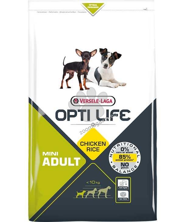Opti Life Adult Mini - Балансирана храна с пиле за малки породи над 10 месеца 7.5 кг.