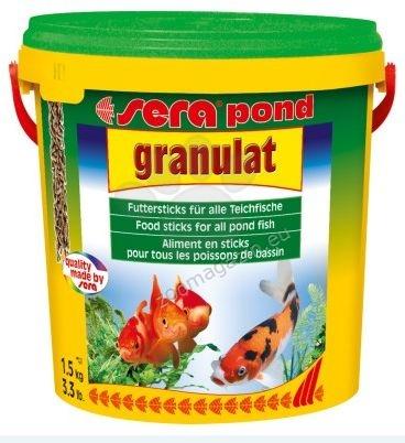 Sera - Pond Granulat - плуваща храна за всички декоративни рибки в градинските езера 10000 мл.