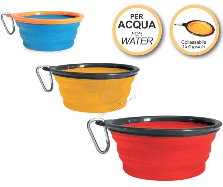 Camon Silicone travel bowl for water - преносима сгъваема купичка за вода 350 мл. / синя, жълта, червена /