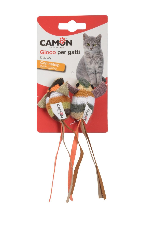 Camon Cat toy - mice striped - котешка играчка