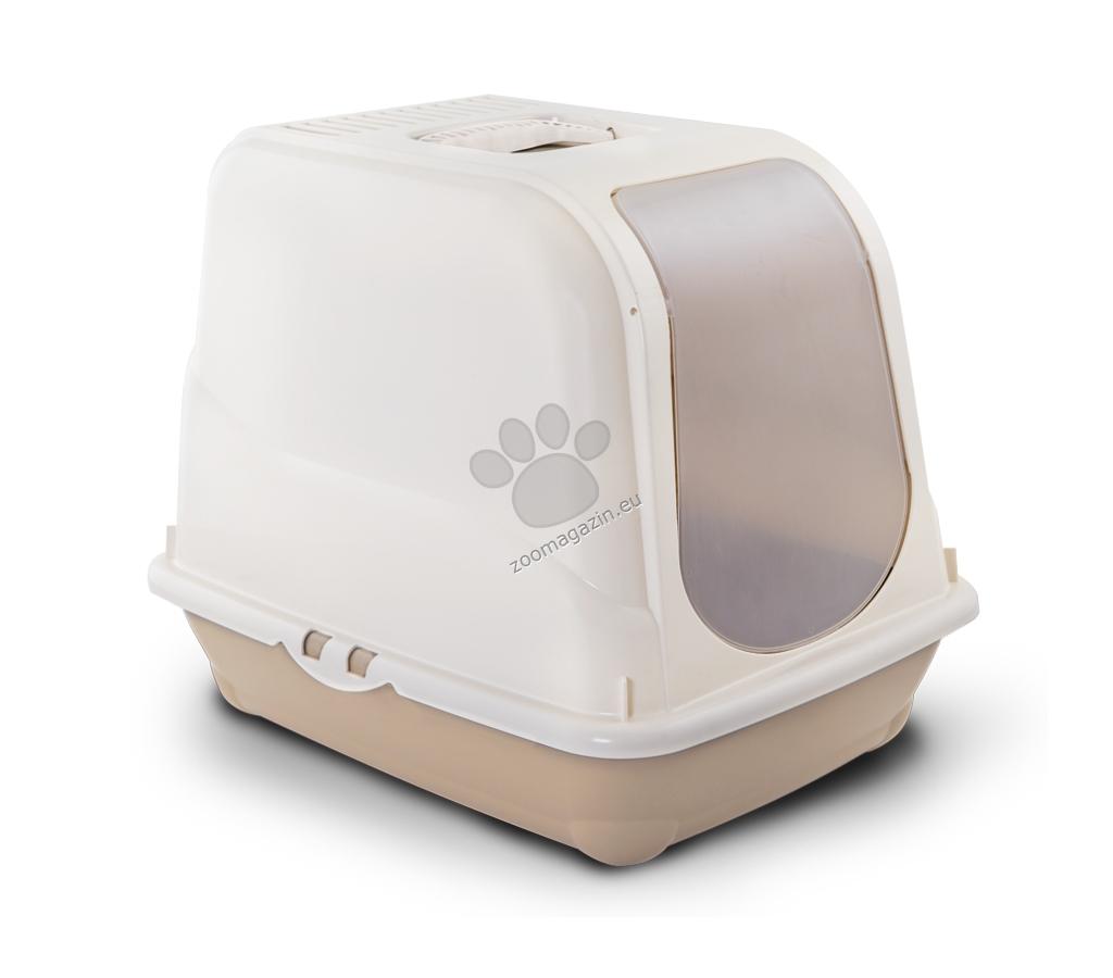 M.P.Bergamo Oliver - закрита котешка тоалетна с карбонов филтър / бежова, зелена, синя, розова / 46 / 35 / 40 см.