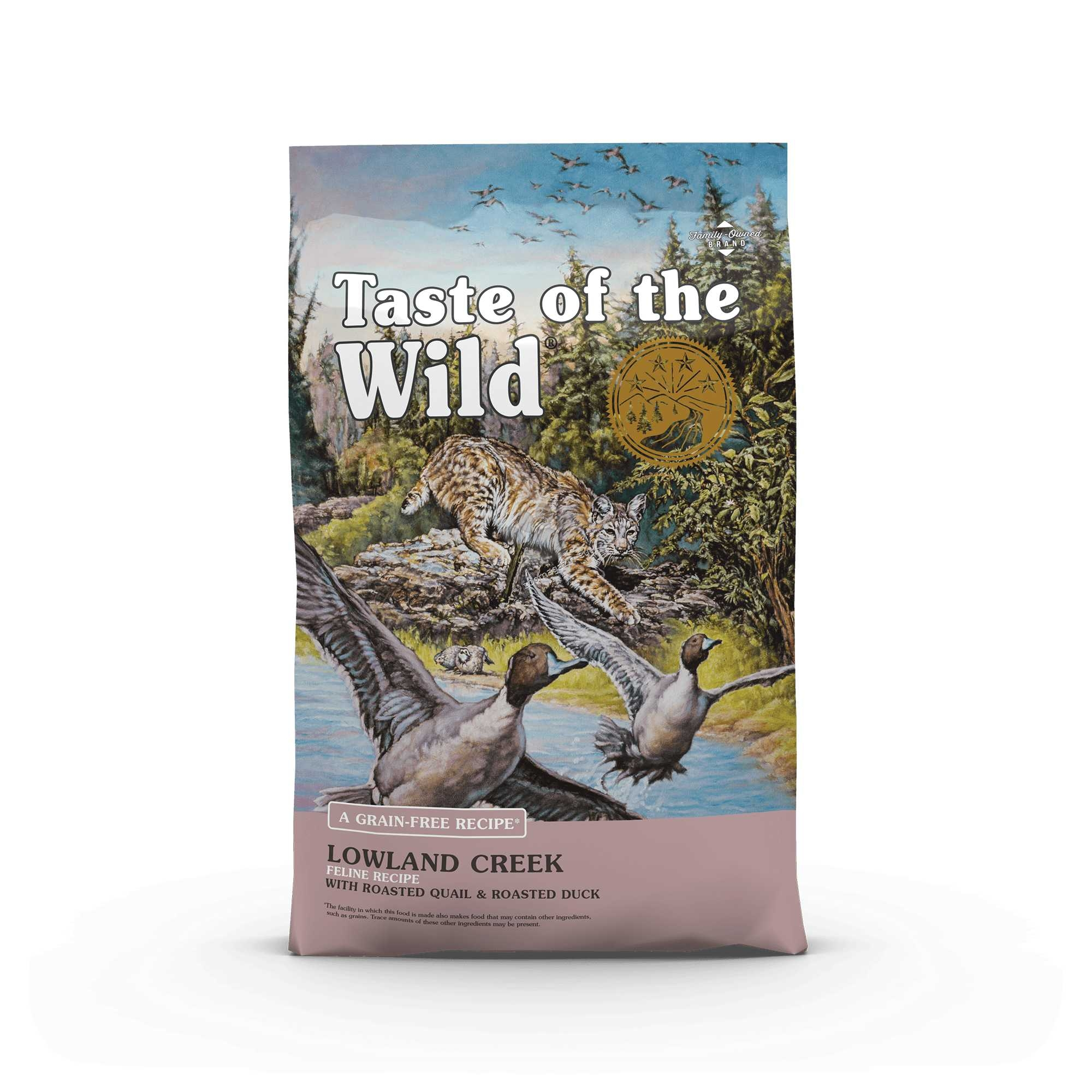 Taste of the Wild Lowland Creek Feline Recipe with Roasted Quail & Roasted Duck - котешка храна с пернат дивеч 6.6 кг.