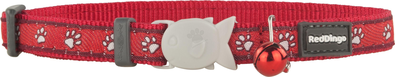 Red Dingo - Cat Collar Desert Paws Red - котешки нашийник, 12 мм х 20-32 см