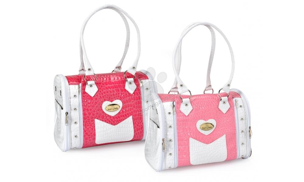 Camon Pet carrier Croco 2 - луксозна транспортна чанта 35 / 25 / 28 см. / розова, червена /