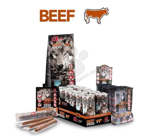 Alpha Spirit Sticks Beef - деликатесно лакомство от чисто говеждо месо / 4 броя пръчици / 40 грама
