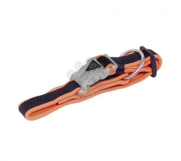 Nobby Flash Halsband - светещ нашийник 40 - 55 см. / оранжев, жълт, сив /