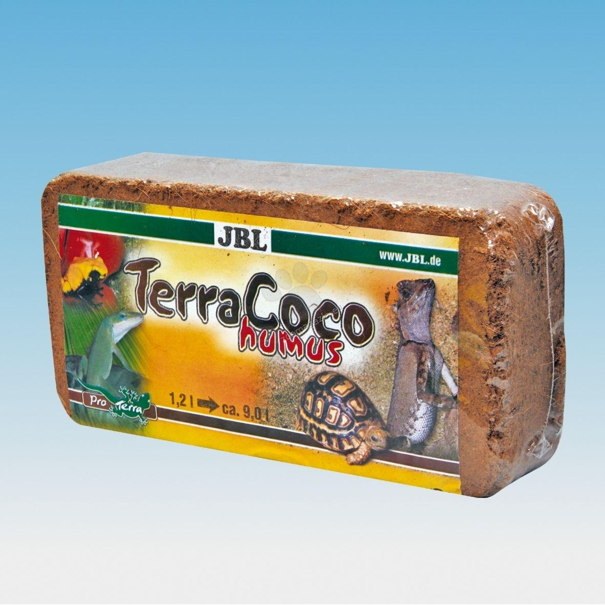 JBL TerraCoco Compact- естествена постелка за терариуми от натрошени кокосови влакна 450 гр.