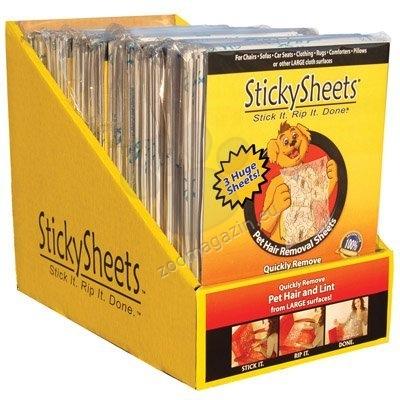Gloria Stickysheet - лепящи се листове за почистване от косми, 1 опаковка /3 бр./, размери: 58,42/88,9 см
