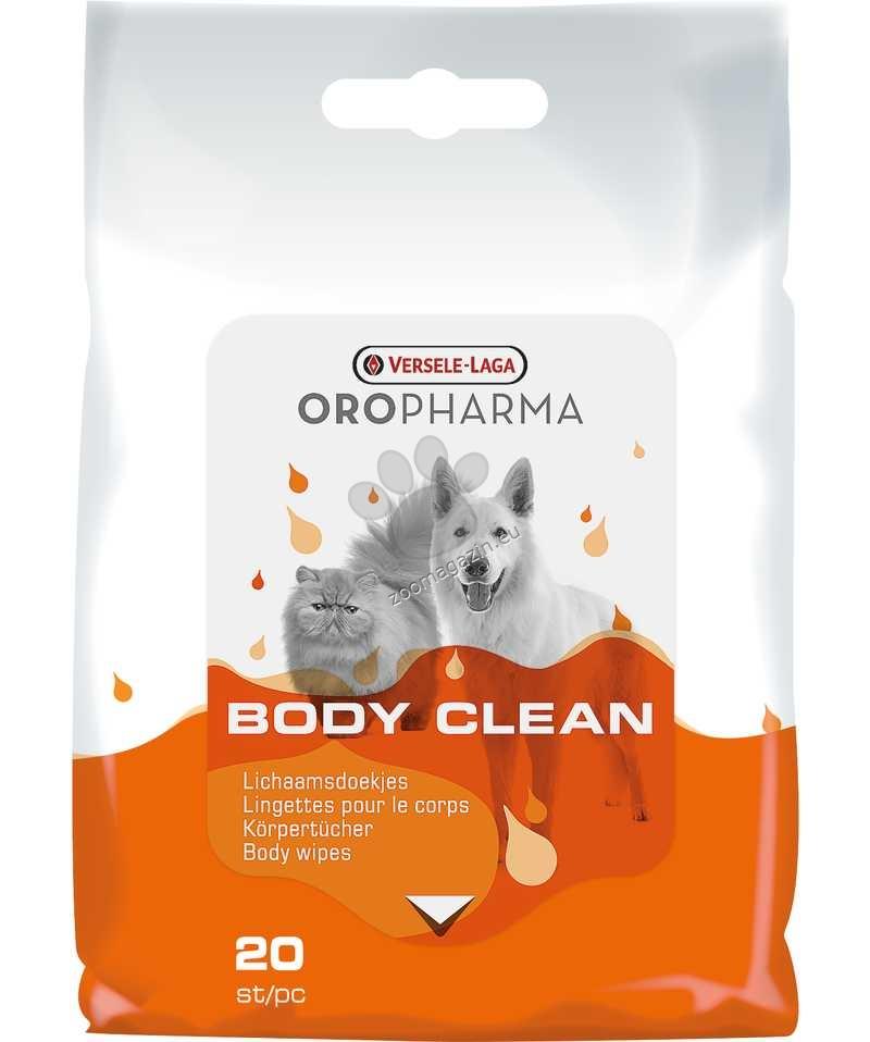 Versele Laga - Oropharma Body Clean - мокри кърпички за почистване на тялото и лапите 20 бр.
