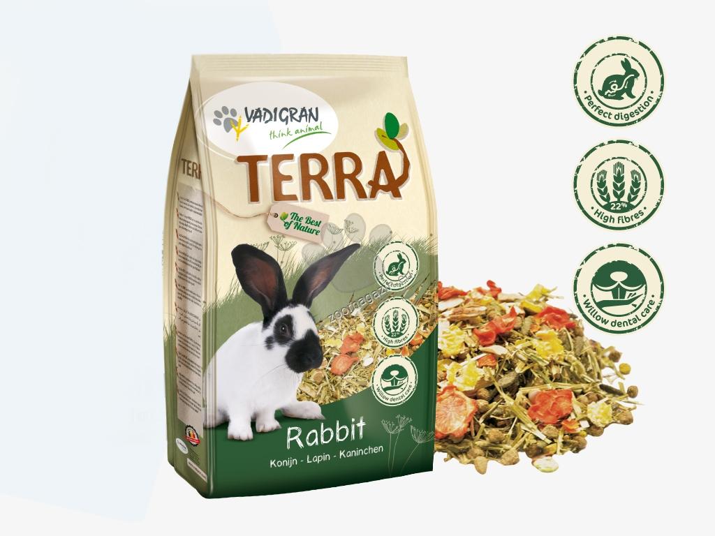 Vadigran - Terra Rabbit Super Premium - пълноценна храна за мини зайчета 1 кг.