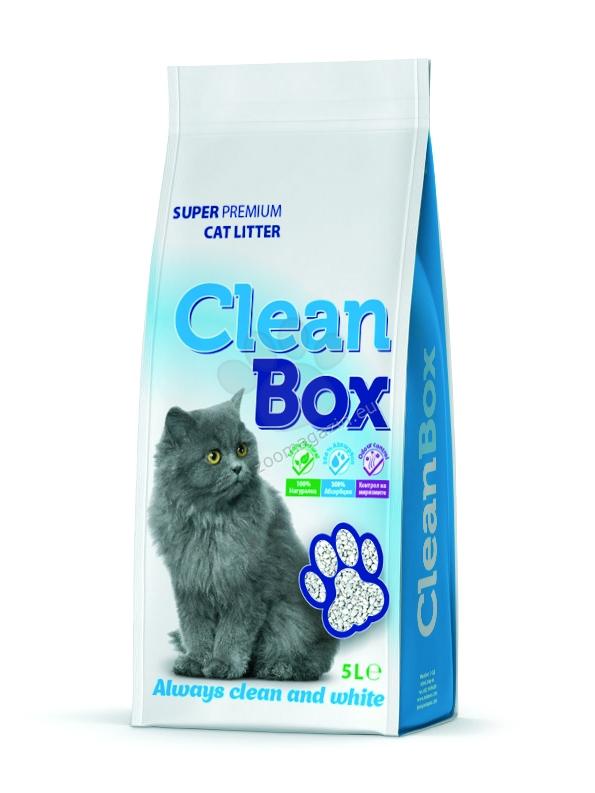 Clean Box Super Premium - постелка за котешка тоалетна от бял бентонит / натурална / 5 кг.