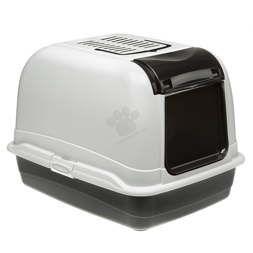 Ferplast - Maxi Bella Cabrio - закрита котешка тоалетна 50 / 65.5 / 47 см. / черна, синя /