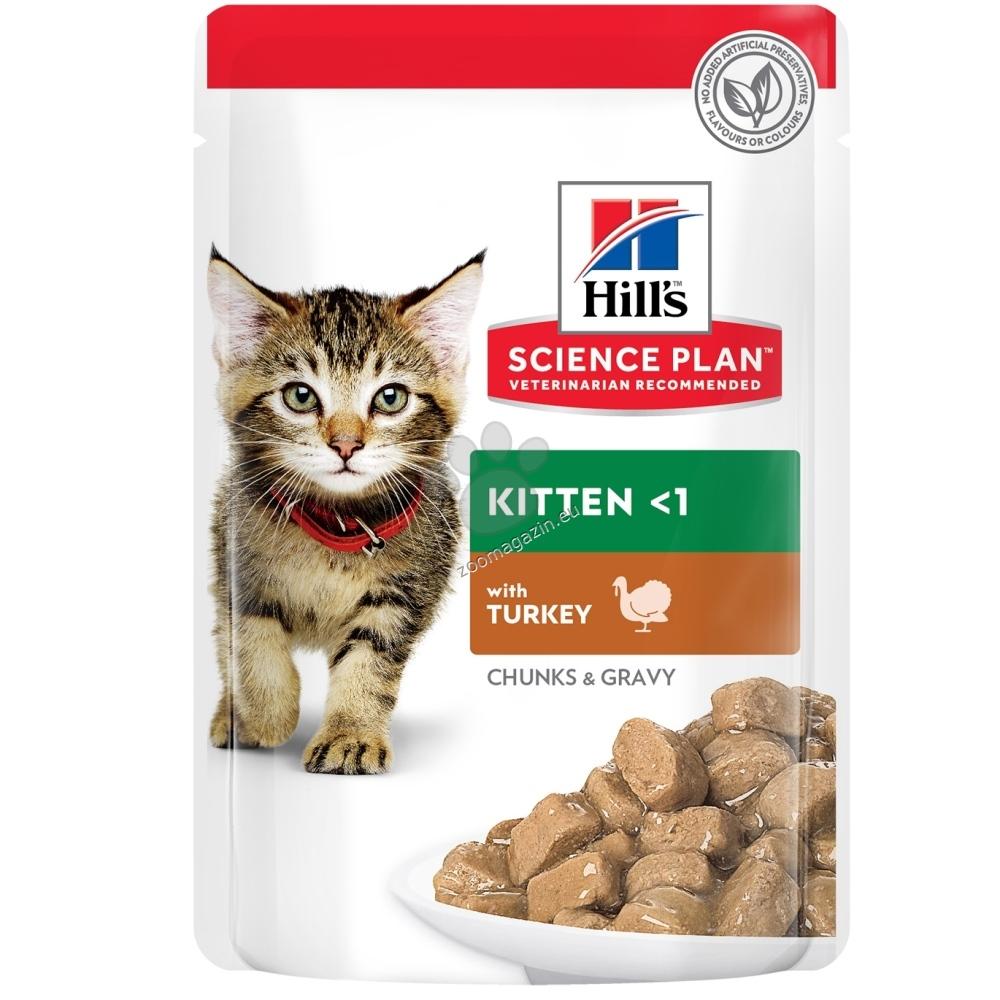 Hills Science Plan Kitten пауч с пуйка – Пълноценна храна за котенца до 1 год. и за бременни/кърмещи котки 12 х 85 гр.