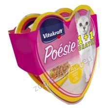 ПРОМОЦИЯ: Vitakraft Poésie Chicen & Garden Vegetables - за котки с пилешко и градински зеленчуци в сос 85 гр., 2 броя на цената за 1 брой