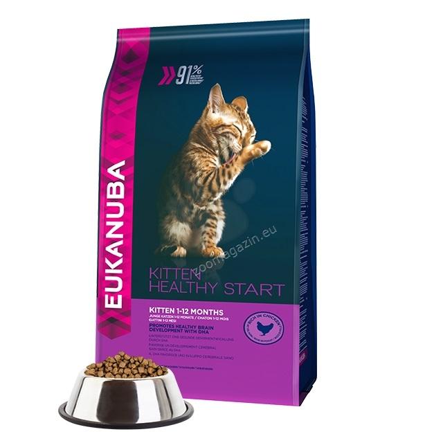 Eukanuba Kitten Healthy Start - пълноценна храна за котенца от 1 до 12 месеца 4 кг.