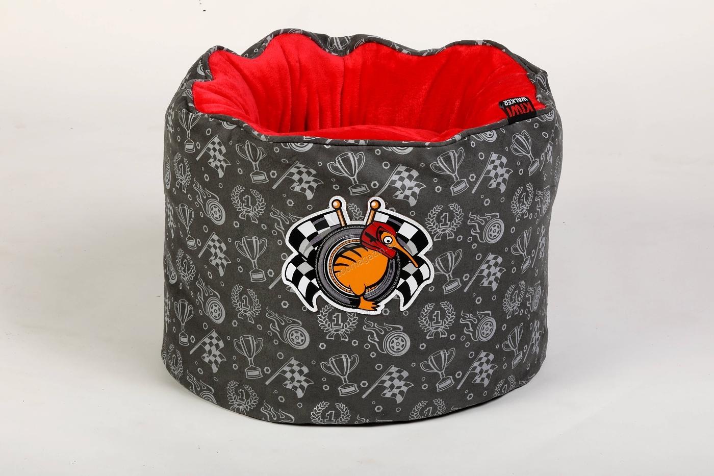 Kiwi Walker Bed Snuggle Nest Racer/Sailor - ортопедично легло с мемори пяна 45 / 45 / 35 см. / червен, син /