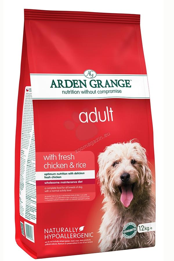 Arden Grange - Adult Chicken & Rice - с прясно пилешко месо и ориз, за кучета над 12 месеца 12 кг.