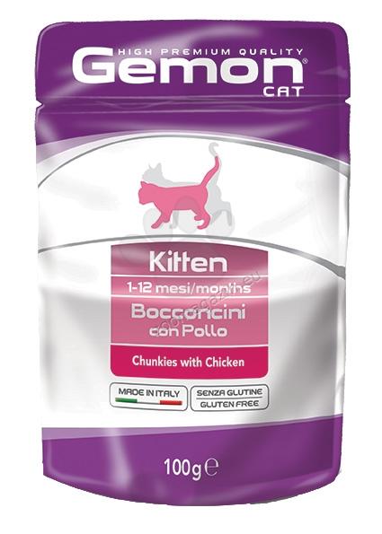 Gemon Chicken Kitten - с пилешко месо, за малки котки 1-12 месеца 100 гр.