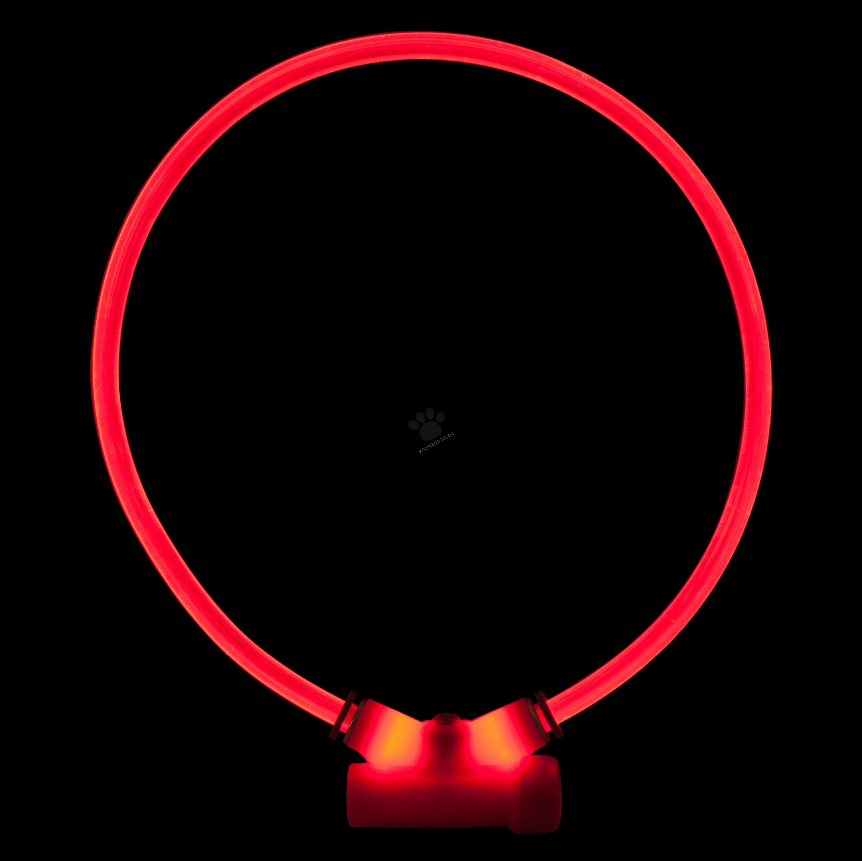 Red Dingo Lumitube Illuminated Dog Safety Collar Bright Red - светещ LED нашийник 15 - 50 см.