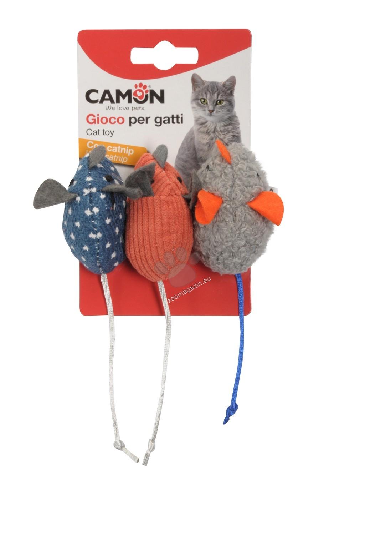 Camon Cat toy with catnip - coloured mice - котешка играчка