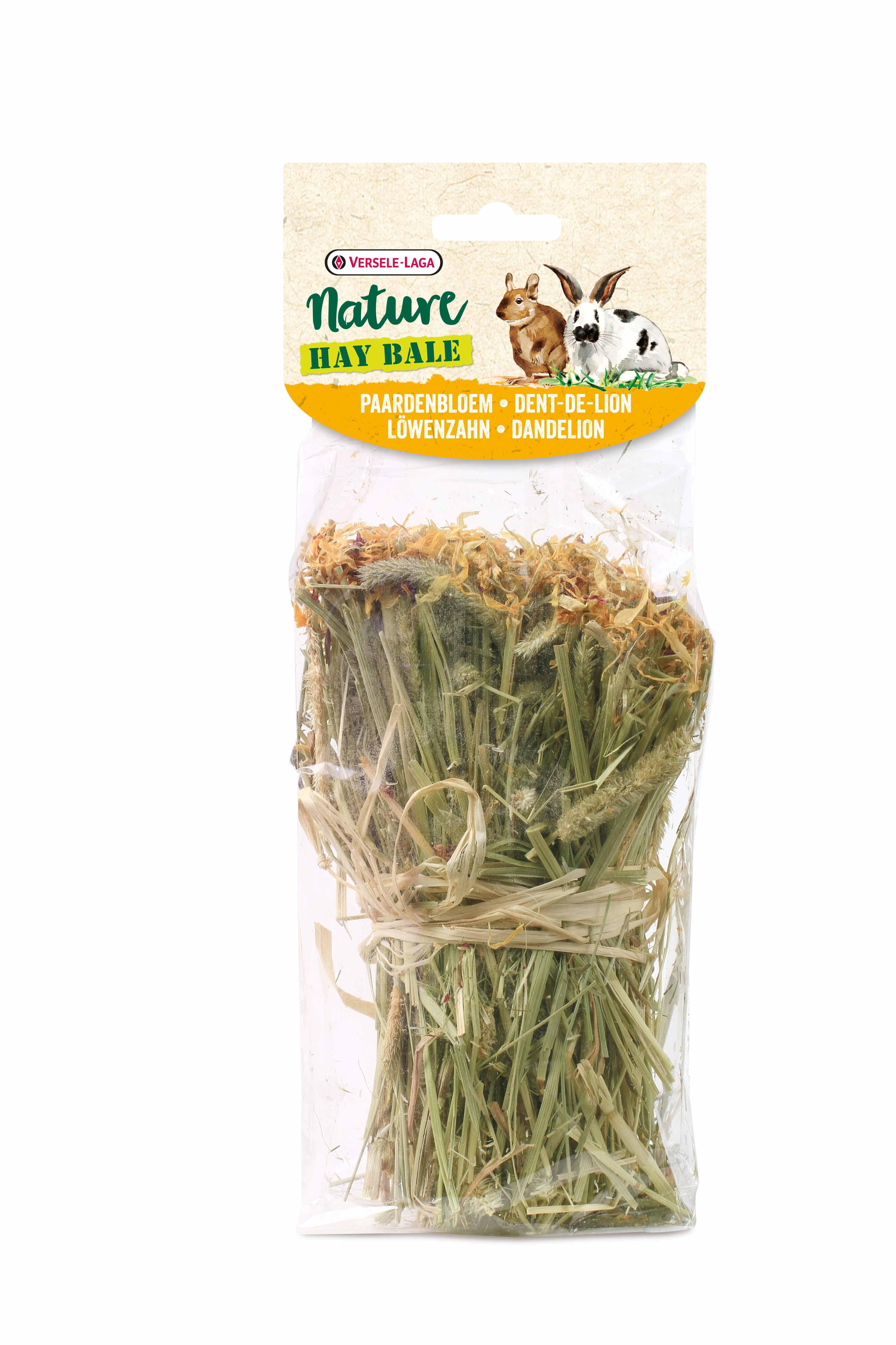 Versele Laga - Nature Snack Hay Bale Dandelion - тимоти сено, обогатен с глухарче и риган 55 гр.