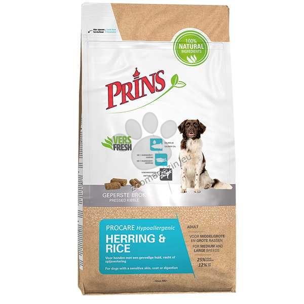 Prins ProCare Herring & Rice Hypoallergenic - студено пресована, с херинга като единствен източник на животински протеин 12 кг.