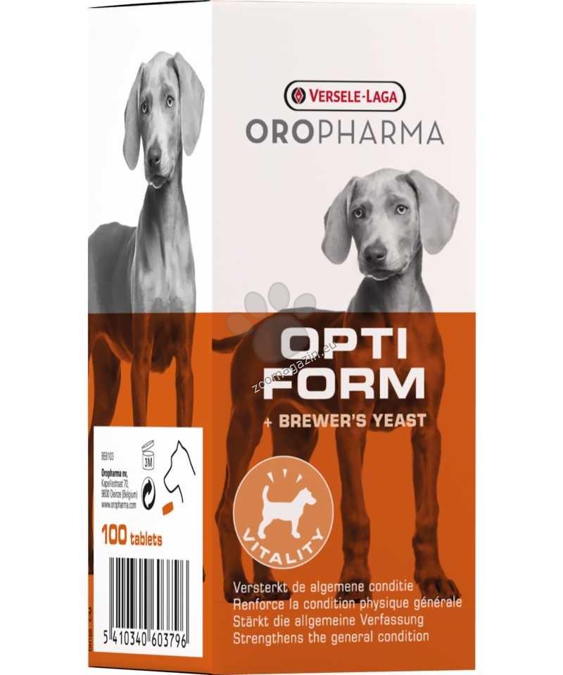 Versele Laga - Oropharma Opti Form Dog - бирена мая за кучета 100 таблетки