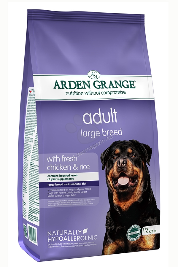 Arden Grange - Adult Large Breed Chicken & Rice - с прясно пилешко месо,за кучета големи и гигантски породи над 18 месеца 12 кг.