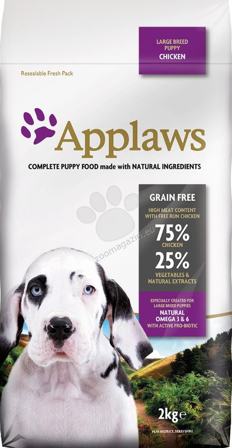 Applaws Puppy Large Breeds Chicken - за кучета големи и гигантски породи от 1 до 18 месеца 2 кг.