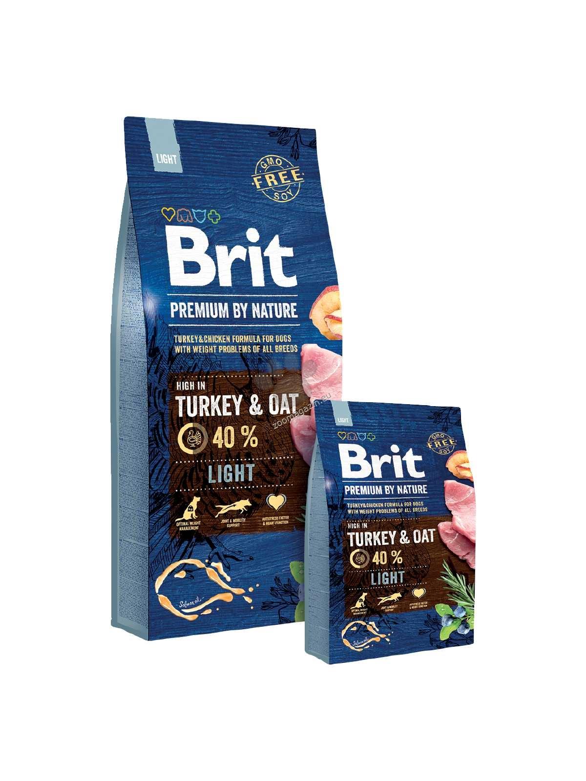 Brit Premium by Nature Light - пълноценна храна за кастрирани и с наднормено тегло, подходяща за всички породи 3 кг.