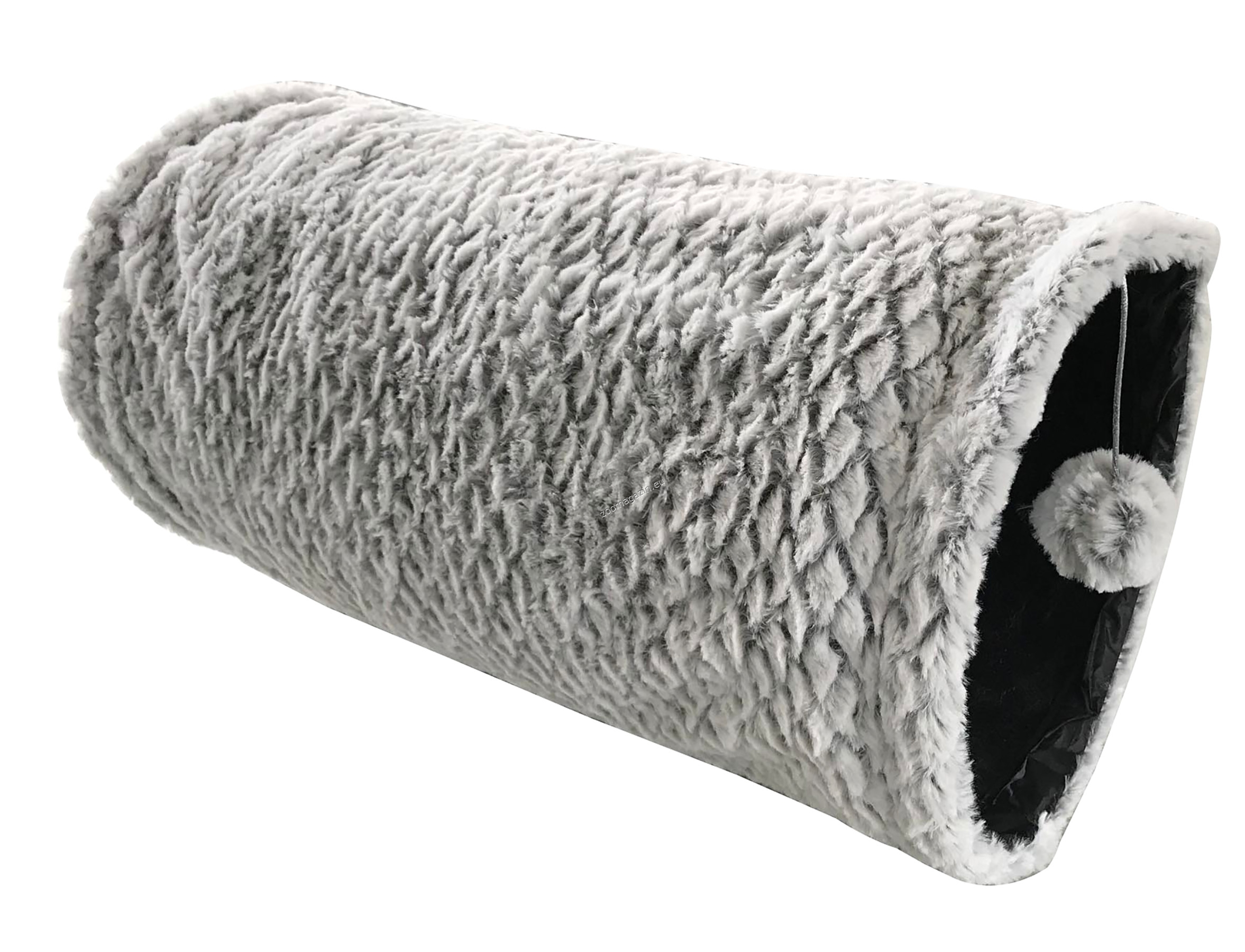 Vadigran Cat tunnel plush crinkle grey - котешки тунел 50 см.