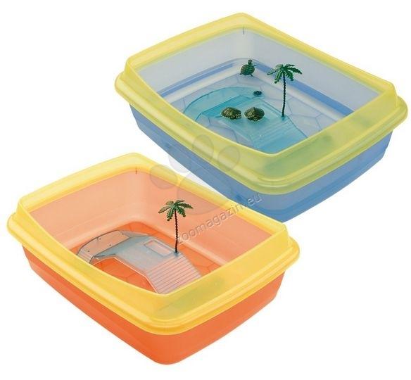 Ferplast - Plastic turtle bowls Tortugas - пластмасов аквариум за костенурки /оранжев,син/  47 / 36 / 15,5 cm