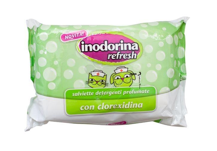 Inodorina Refresh With Chlorexidine - мокри кърпички с хлорхексидин 40 броя