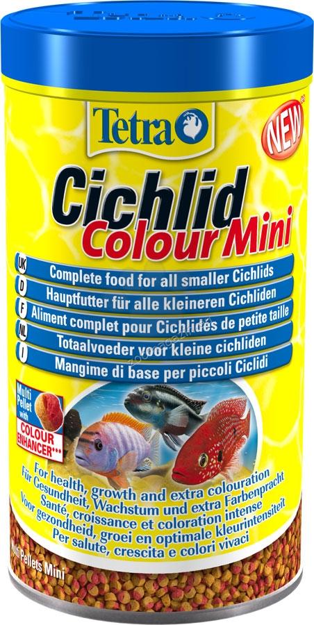 Tetra - Cichlid Color Mini - специализирана храна за цихлиди за усилване на цветовете 500 мл.