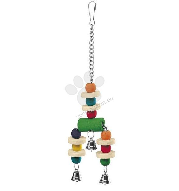 Ferplast - Parrot Toy pa4092 - дървена играчка за средни и големи папагали 9 / 3 / 32 cm