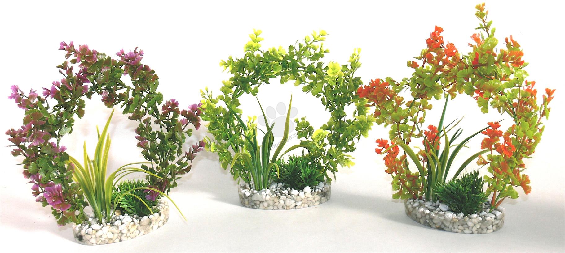 Sydeco Arch plant 22 см. / зелено, лилаво, оранжево /