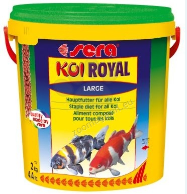 Sera  - Koi Royal Large - основна храна за млади кои и големи по размер езерни рибки 21000 мл.