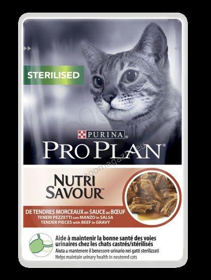 Pro Plan Nutri Savuor Sterilised - / с говеждо месо / за кастрирани котки в зряла възраст 85 грама