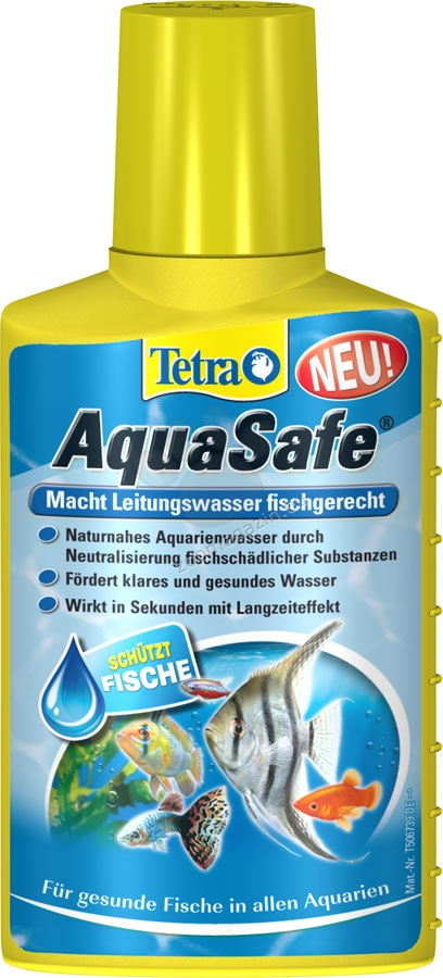 Tetra - AquaSafe - елиминира хлора и тежките метали 250 мл.